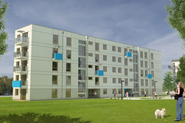 Budynek wyróżniać będzie prosta architektura z niebanalnym akcentem kolorystycznym.