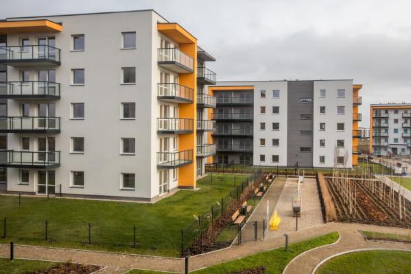 Budynki osiedla Optima ukończone w pierwszym etapie inwestycji.