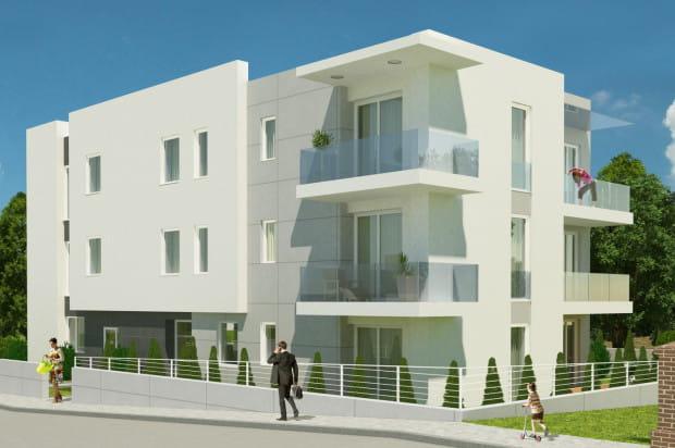 Elewacje budynku wykończone zostaną szlachetnymi materiałami.