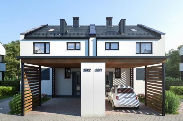 Przed każdym domem powstają dwa miejsca postojowe.