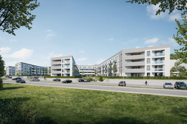 Budynki stworzą spójne architektonicznie osiedle.
