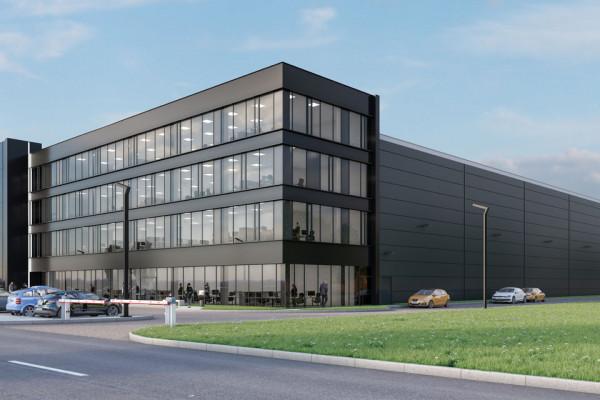 Budynek biurowy pod frontu będzie miał 2,8 tys. m kw. powierzchni najmu, a hala 4,5 tys. m kw.
