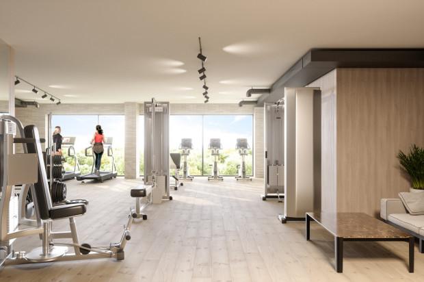 Planowane przestrzenie wspólne - fitness.