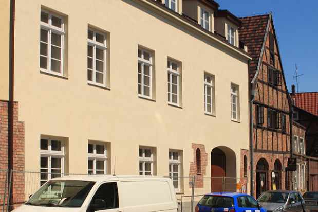 Budynek przy ulicy Grodzkiej od frontu.