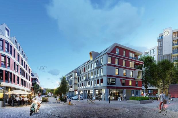 Budynki w centralnej części nowej dzielnicy będą miały od pięciu do ośmiu kondygnacji.