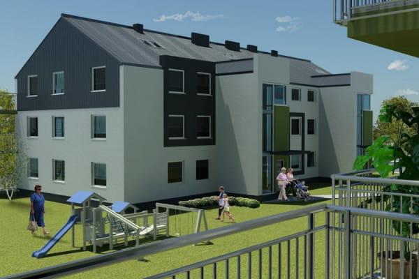Budynki przy Dębogórskiej będą oddawane do użytku wraz z małą architekturą i zielenią.
