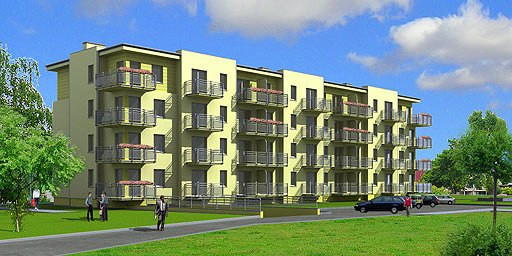 Wszystkie mieszkania mają indywidualne balkony, pod budynkiem znajduje się podziemna hala garażowa. mat. inwestora