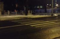 Kocie oczka na pechowym przejściu przez al. Hallera we Wrzeszczu