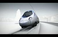 Wizualizacja pociągu Pendolino z wychylnym pudłem