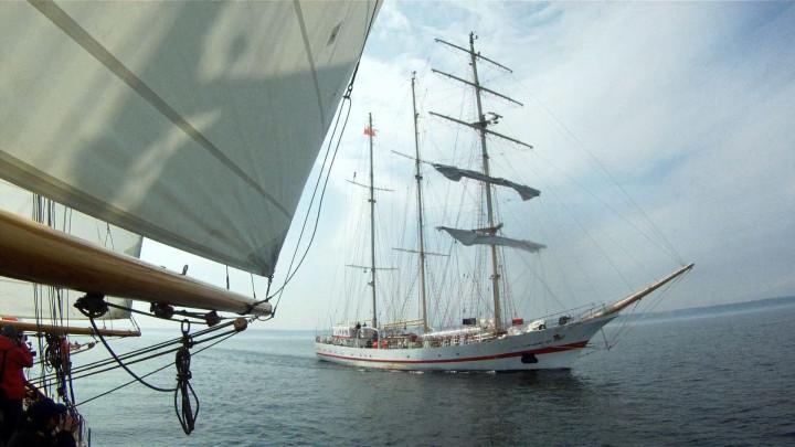 Zaruski - próba na morzu