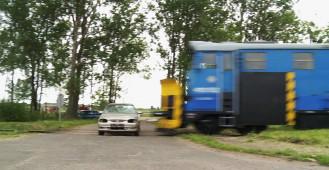Wypadek na przejeździe kolejowym - akcja Bezpieczny Przejazd