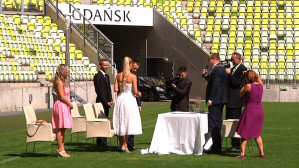 Ślub na murawie PGE Areny