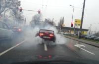 """""""Palenie gumy"""" na ul. Morskiej w Gdyni"""