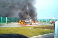 Płonący autobus na Karczemkach
