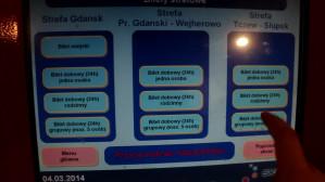 Zakup biletów strefowych dobowych w biletomacie SKM