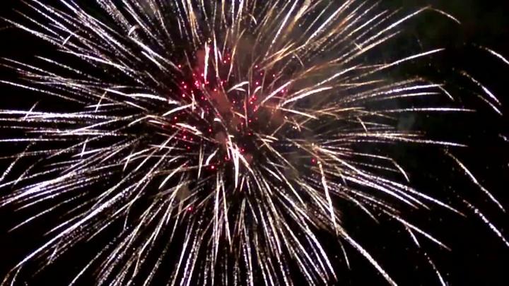 Rozpoczęcie Jarmarku św. Dominika uświetnił pokaz sztucznych ogni.