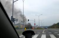 Pożar samochodu vw golf II na Wacława Havla