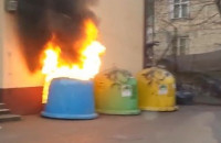 Pożar śmietnika na Do Studzienki