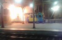 Wieczorny pożar pociągu w Gdańsku