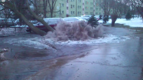 Awaria wodociągu Przymorze, ul.Dąbrowszczaków