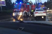Audi uderzyło w słup na Al. Zwycięstwa w Gdyni