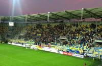 Kibice Arki po 2 golu w meczu Sandecją