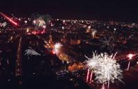 Fajerwerki z lotu ptaka - Gdańsk wita 2016