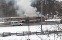 Pożar autobusu na ul. Havla