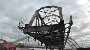 Rozbiórka 100-letniego mostu kolejowego na Martwej Wiśle