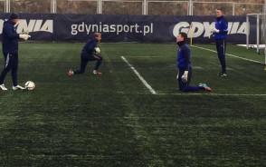 Trening bramkarzy Arki Gdynia