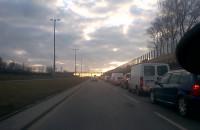 Korek na Armii Krajowej w kierunku Łostowiskiej