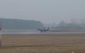 Start samolotu MIG-29 z lotniska w Gdańsku