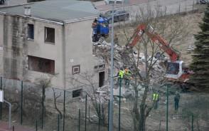 Wyburzanie zabudowań ogrodnictwa w Sopocie