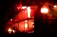 Pożar domu na działce na stogach