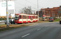 Kolizja z udziałem tramwaju
