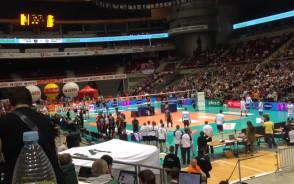 Pokaz parkour KS Movement w przerwie meczu Lotos Trefl - Asseco Resovia