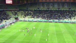 Tak kończyła się pierwsza połowa meczu Lechia - Pogoń