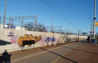 Gdańsk Zaspa  graffiti na wiadukcie pkm