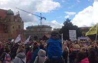 """Manifestacja """"Ustawka"""" na Targu Węglowym"""