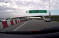 Korek przed wjazdem na A1