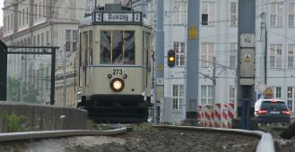 Przedwojenny tramwaj Ring przejechał przez centrum Gdańska