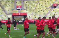 Trening piłkarskiej reprezentacji Polski przed meczem z Holandią