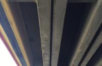 Zarysowany strop Estakady Kwiatkowskiego nad ul. Unruga