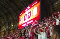 Radość kibiców po golu dla Polski