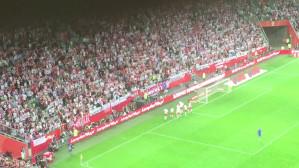 Radość po golu. Polska - Holandia 1:1