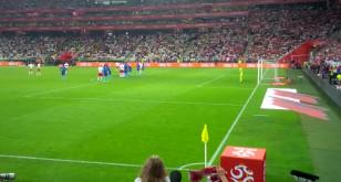 Milik tuż obok bramki w meczu Polska-Holandia