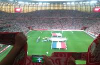 Hymn Polski podczas meczu Polska-Holandia