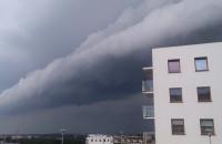 Czarno-białe chmury nad Gdańskiem