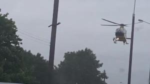 Na wysokości Galerii Rumia helikopter ratunkowy
