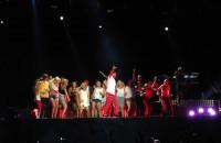 Dużo fanów na scenie Pharrella Williamsa